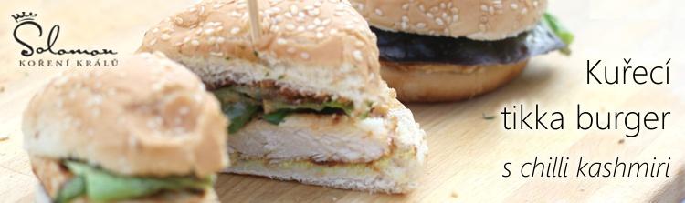 Kuřecí tikka burger s chilli kaschmiri